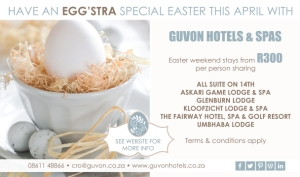 Easter accommodation specials Guvon hotels