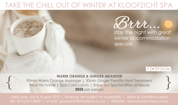 Kloofzicht-Spa winter package