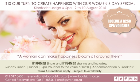 Womans day Kloofzicht Lodge package