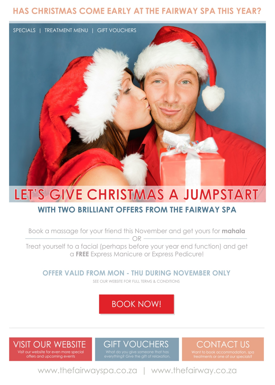 Jumpstart Christmas 2016 - The Fairway Spa