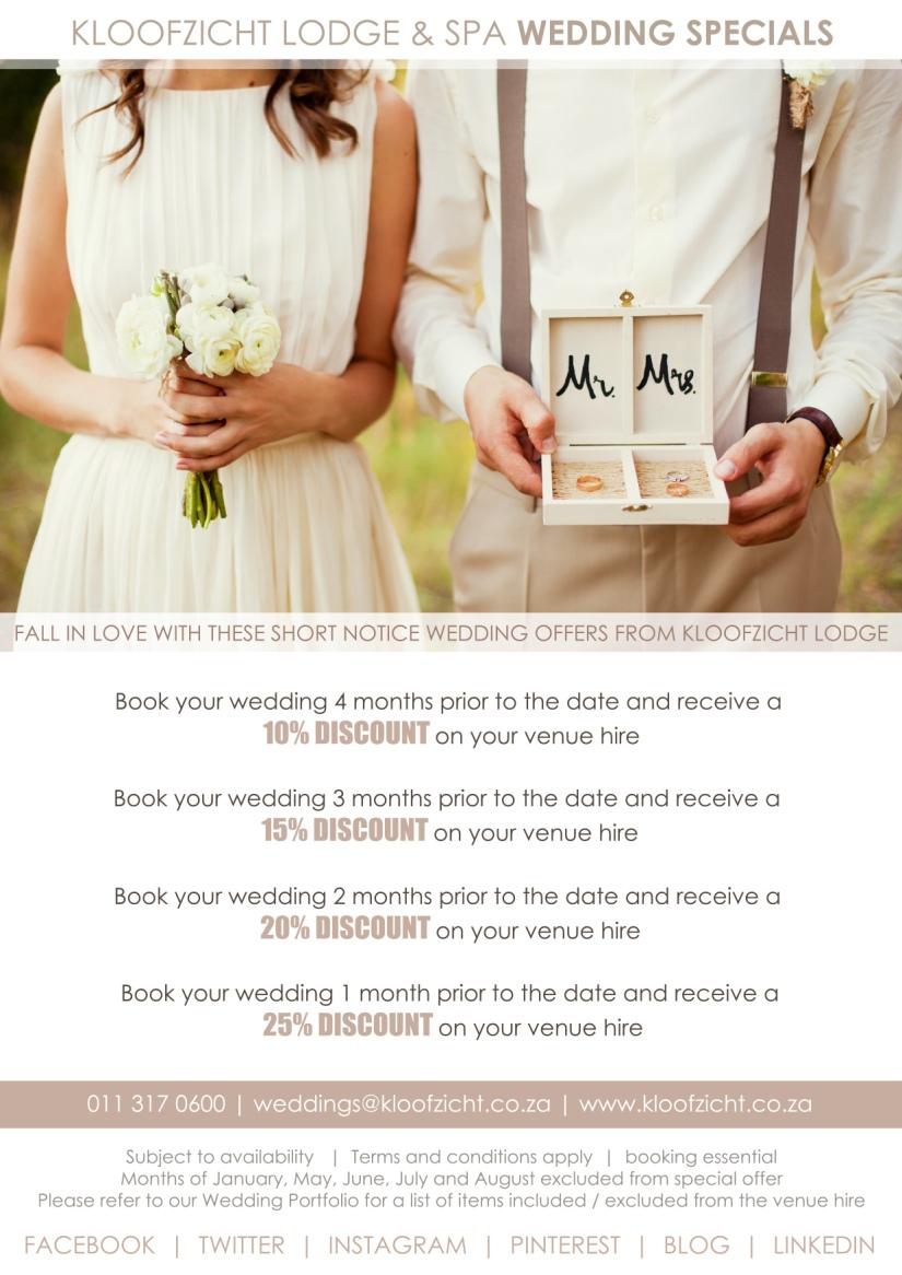 Short notice wedding specials large